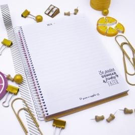 Caderno Gelado Rosa A5