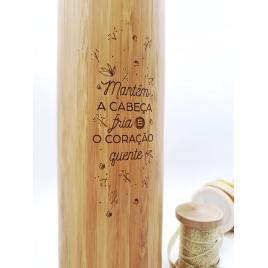 Garrafa Bambu
