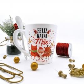 Caneca c/ colher Feliz Natal